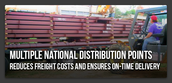 Multiple National Distribution Points Reduces Freight Costs and Ensures on-time Delivery