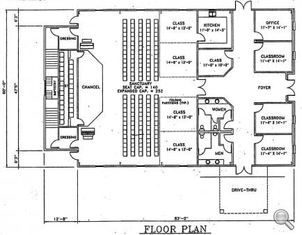 Church plan 142 lth steel structures for View floor plans for metal homes
