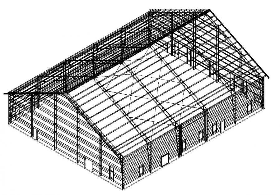 100  x 120  x 24...100 X 200 Building