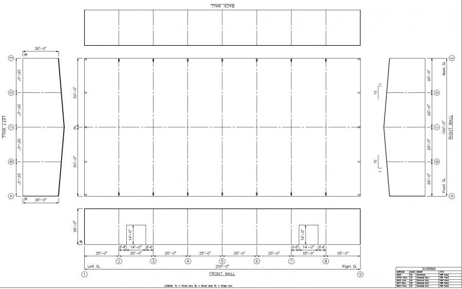 Steel Buildings Drawings x 20' Steel Building For