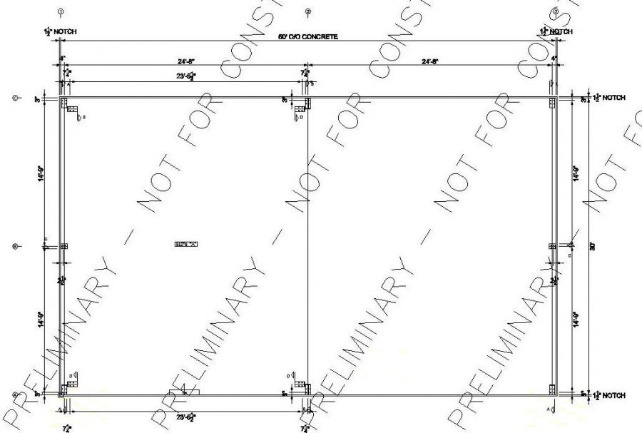 30 39 x 50 39 x 12 39 steel building for sale springfield la for Metal building layouts