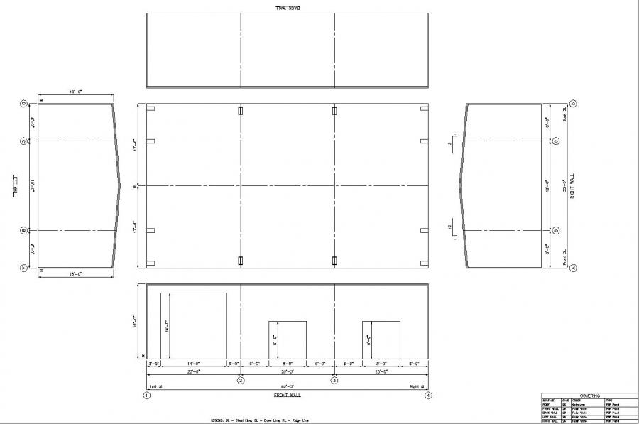 Steel Buildings Drawings 35' x 60' x 16' Steel Building