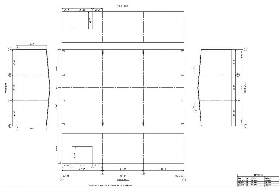 45 39 x 72 39 x 18 39 steel building for sale prairie ms for Metal building layouts
