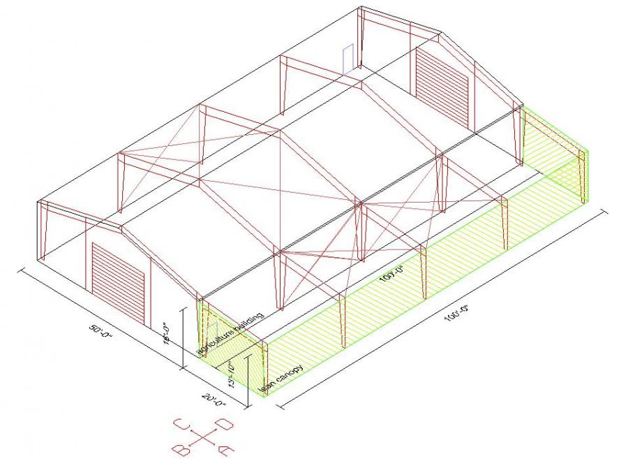 50 39 x 100 39 x 16 39 steel building for sale rocky mount va for Metal building layouts