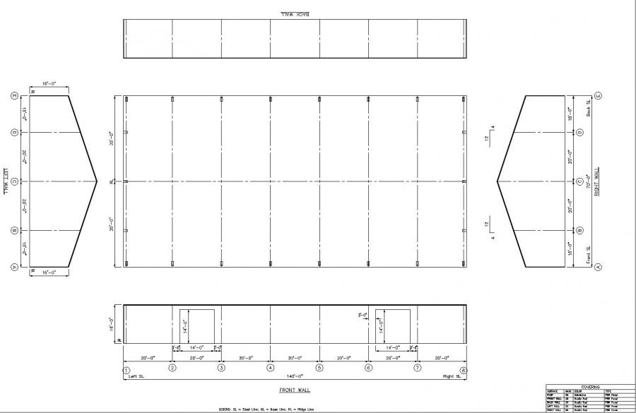 70 39 x 140 39 x 16 39 steel building for sale enterprise or for Metal building layouts
