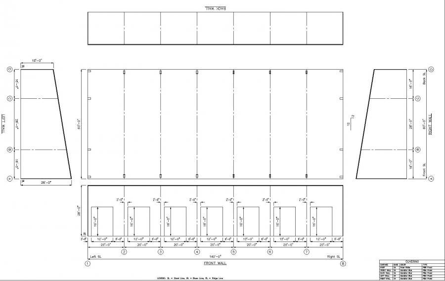 Metal roof single slope metal roof for Metal building layouts