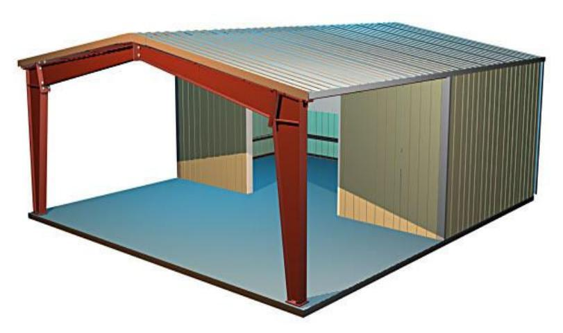 Steel storage buildings for sale lth steel structures for Steel storage sheds