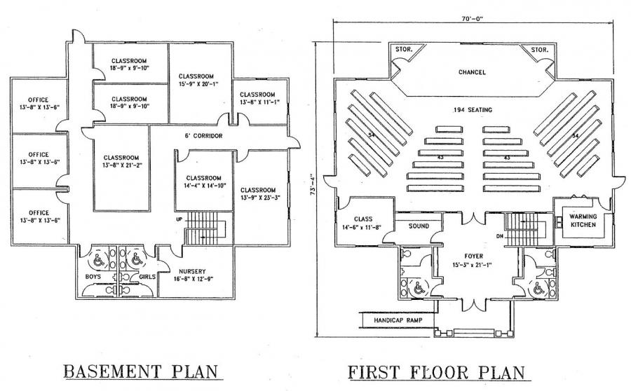 Free Church Floor Plans Best Free Home Design Idea