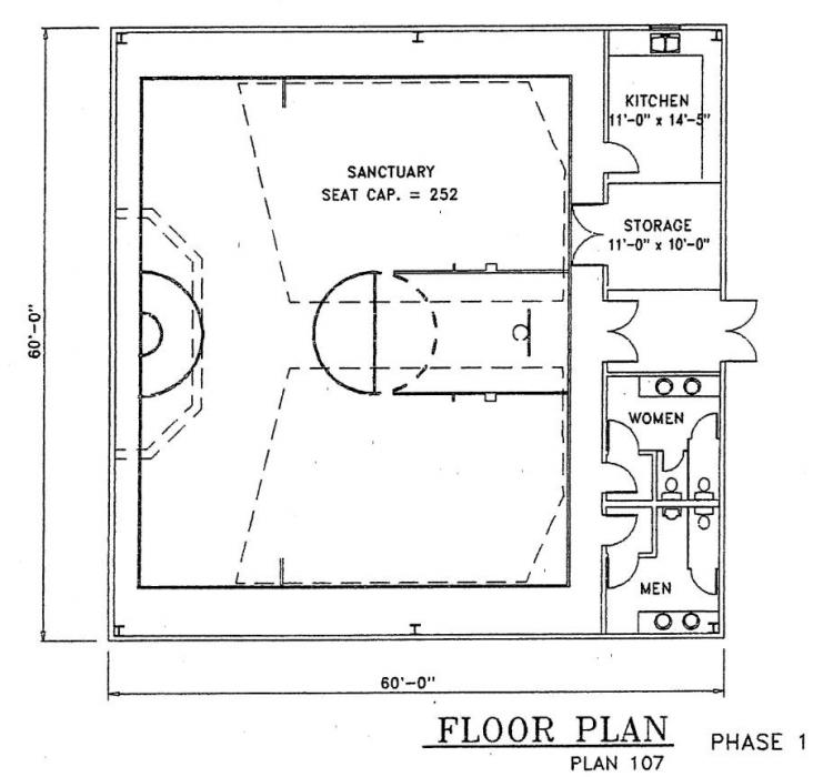 Church plan 107 112 lth steel structures for Church blueprints and floor plans