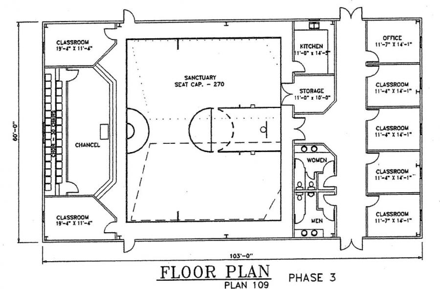 Church Plan 109 Lth Steel Structures