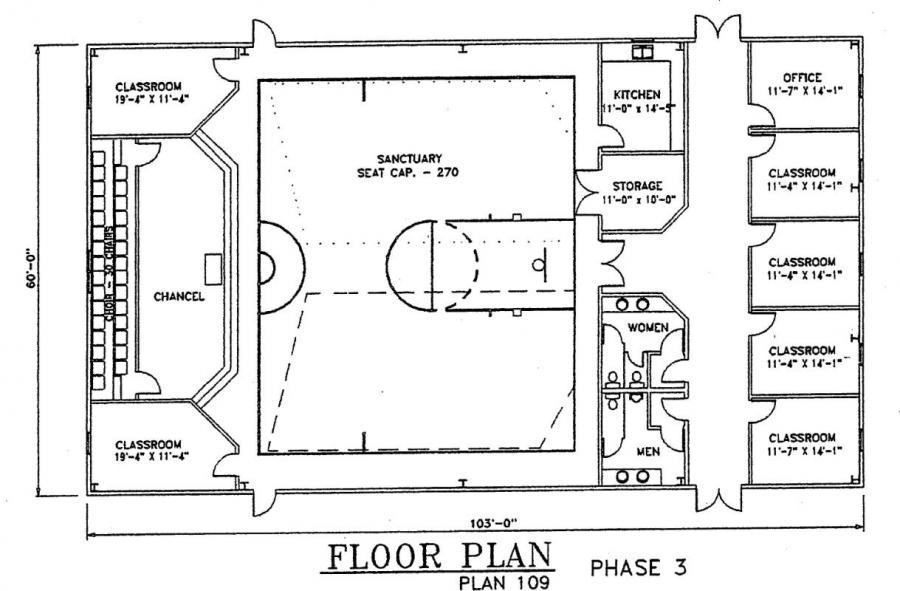 Church Plan 109 Lth Steel Structures
