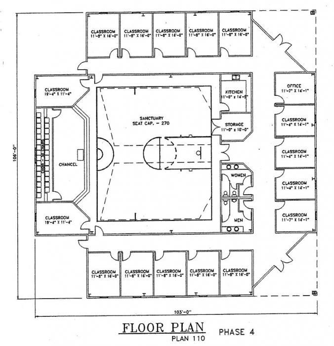 Church Plan 110 Lth Steel Structures