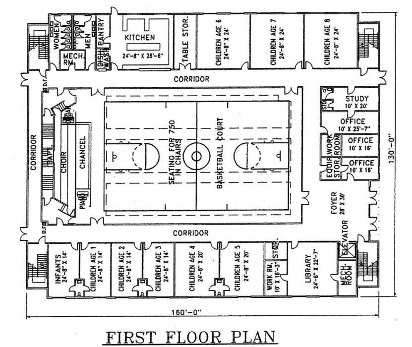 Church Plan 118 Lth Steel Structures