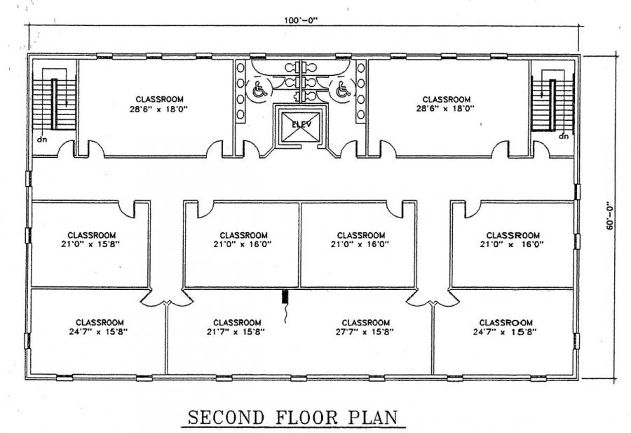 Church plan 122 lth steel structures for Metal building office floor plans