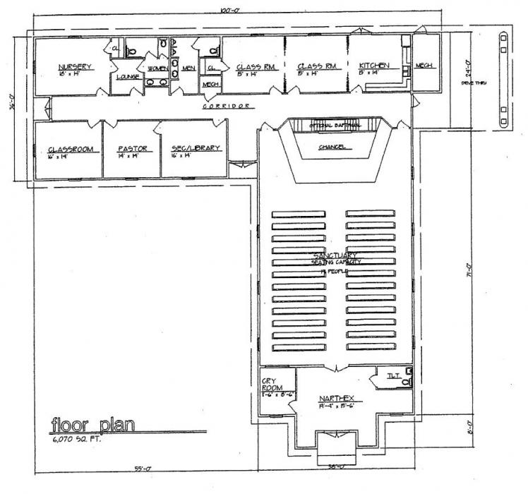Small church floor plans 28 images small church for Small church blueprints