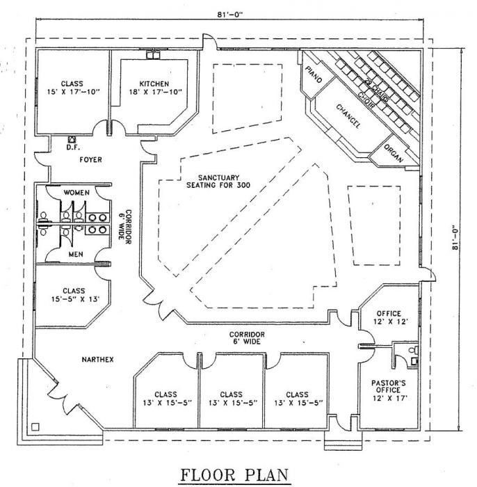 Church design plans joy studio design gallery best design for Floor plan church