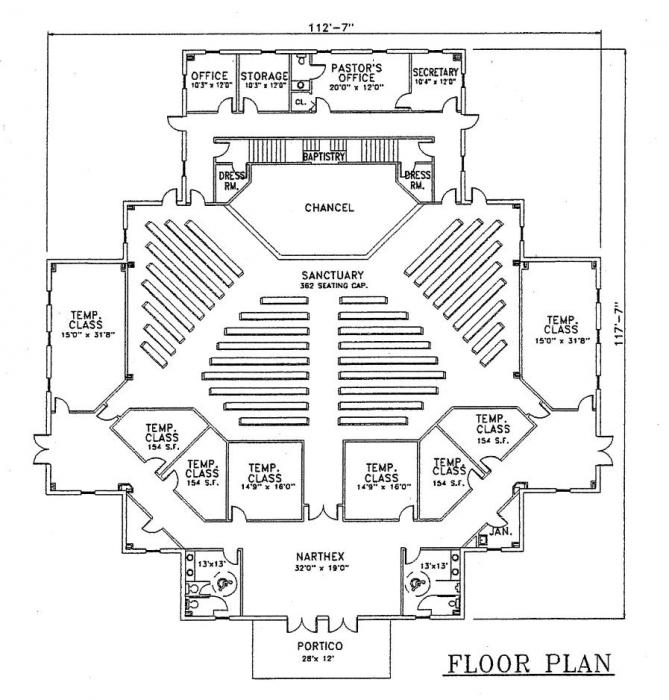 40 60 church floor plans joy studio design gallery for Floor plan church