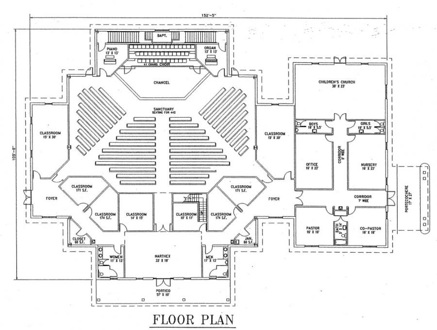 Photo metal church building floor plans images small church church plan 129 lth steel structures malvernweather Gallery