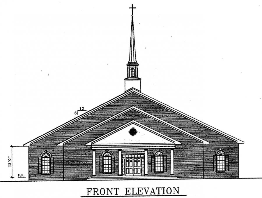 Church plan 133 lth steel structures for Church building designs