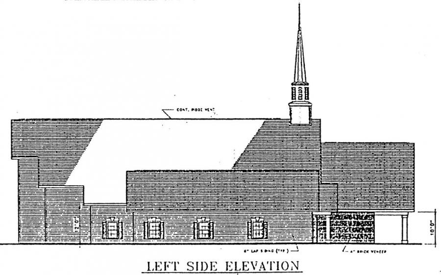 Church Elevation Plan : Church plan lth steel structures