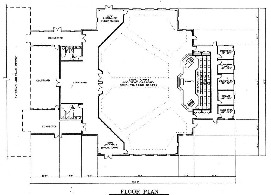 Church plan 137 lth steel structures for Church floor plan designs