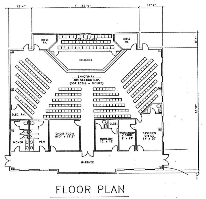 Steel church buildings floor plans floor matttroy for Church building designs