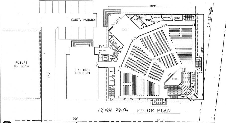 Church floor plans for 200 300