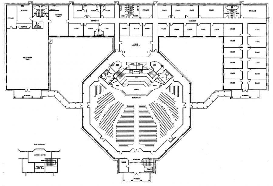 Church floor plan designs free gurus floor for Small church blueprints