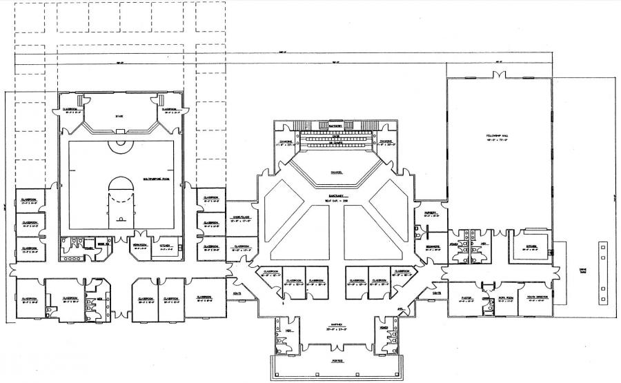 Church plans joy studio design gallery best design for Church designs and floor plans