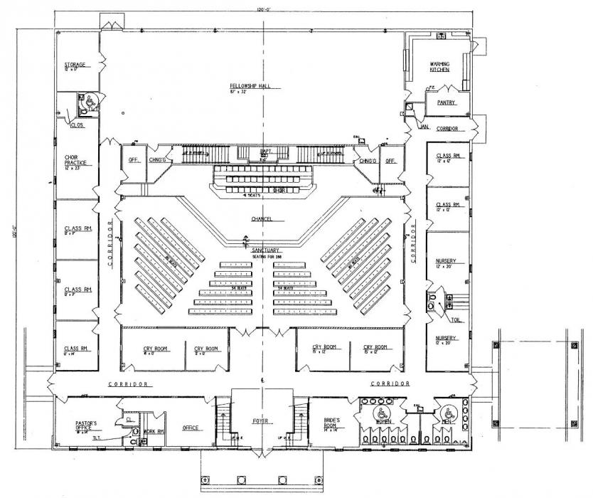 Church floor plans steel church building floor plans floor for Church designs and floor plans