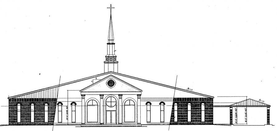 Church Elevation Plan : Church plan lth steel structures