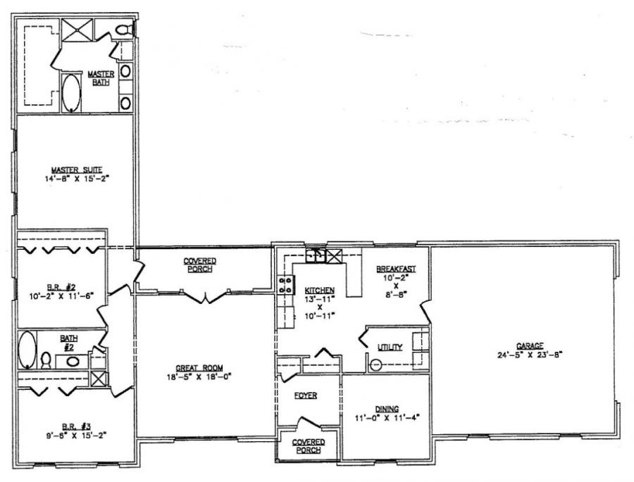 Floor plans l shaped house for L shaped ranch house plans