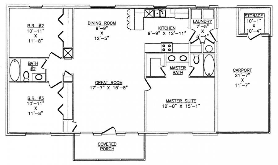 The lth027 lth steel structures Metal house floor plans
