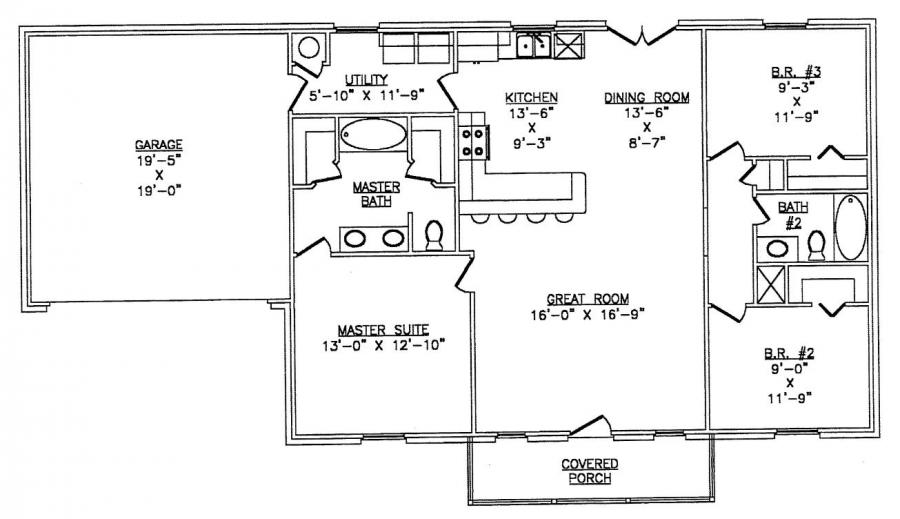 40 x 60 metal building floor plans for 40x60 house plans