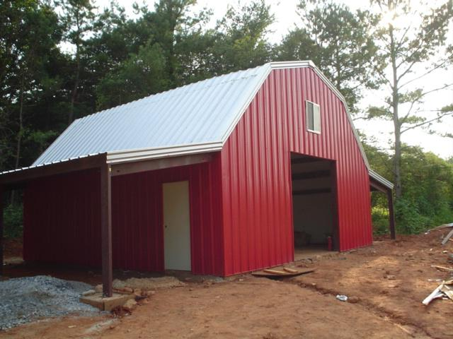 Steel steel pole barns for sale lth steel structures for Metal barn for sale