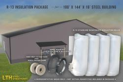 R-13 Insulation Package for a 100' x 144' x 16'