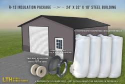 R-13 Insulation Package for a 24' x 32' x 10'