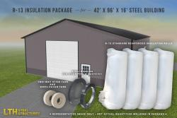 R-13 Insulation Package for a 42' x 96' x 16'