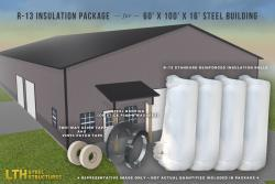 R-13 Insulation Package for a 60' x 100' x 16'