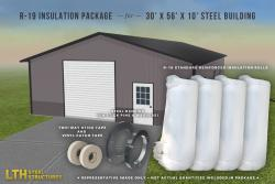 R-19 Insulation Package for a 30' x 56' x 10'