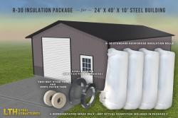 R-30 Insulation Package for a 24' x 40' x 10'