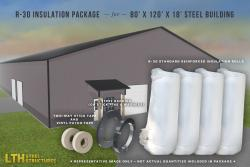 R-30 Insulation Package for a 80' x 120' x 18'
