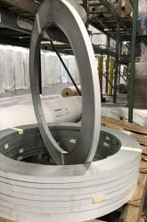 White Insulation Support Steel Banding